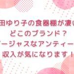 石田ゆり子の食器棚が凄い!どこのブランド?ゴージャスなアンティーク | 収入がいくらか気になります!